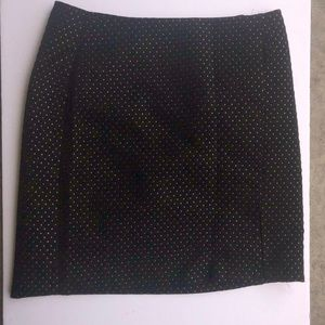 Black and gold Ann Taylor skirt